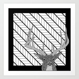 White Tail Buck... Oh Deer Art Print