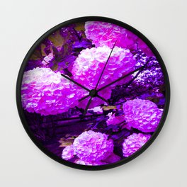 Pops of Pink Wall Clock