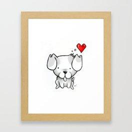 Cute Kawaii Puppy Dog Framed Art Print