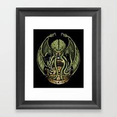 Cthulhu Exterminates Framed Art Print