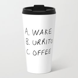 Breakfast Coffee ABC Travel Mug