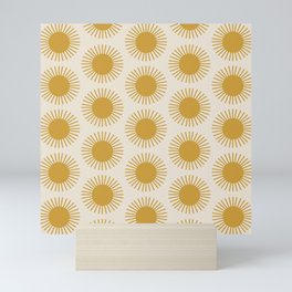 Golden Sun Pattern Mini Art Print