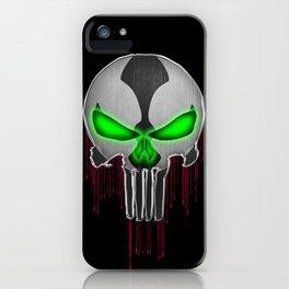 Punisher Spawn Mash-Up iPhone Case