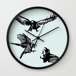 Crow Parliament Wall Clock
