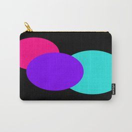 Pink Turquoise Black Mod Circles Carry-All Pouch