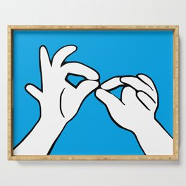 ASL Interpret Serving Tray
