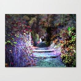 Secret Garden Path Purple Dream Photography Canvas Print