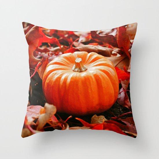 Samhain pumpkin Throw Pillow