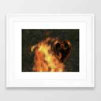gem Framed Art Prints featuring Gem by Maria Julia Bastias