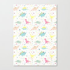 Dinosaur Pattern Canvas Print