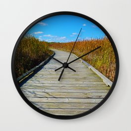 Point Pelee National Park Boardwalk in Leamington ON, Canada Wall Clock