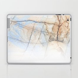 Cotton Latte Marble - Ombre blue and ivory Laptop & iPad Skin