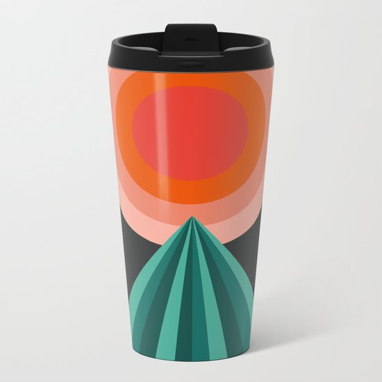Way Decent - 70s retro throwback minimal sun california socal 1970's style Metal Travel Mug