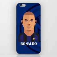 ronaldo iPhone & iPod Skins featuring Ronaldo Toon by Sport_Designs