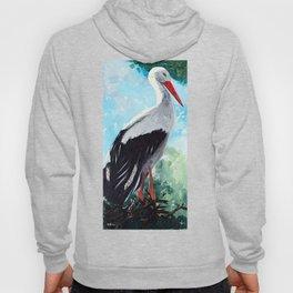 Animal - The beautiful stork - by LiliFlore Hoody