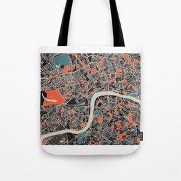 London Multicoloured Print Tote Bag