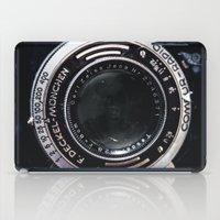 vintage camera iPad Cases featuring Camera by Katherine Ridgley
