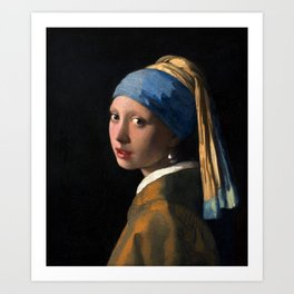 "Johannes Vermeer, "" The girl with a pearl earring "" Art Print"