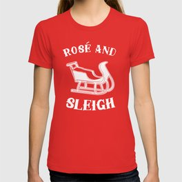 Rose And Sleigh T-shirt
