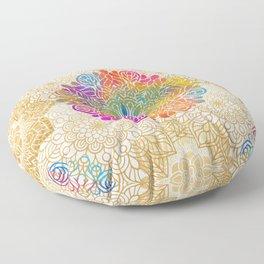 Beautiful Colorful Bohemian Mandala Pattern Floor Pillow