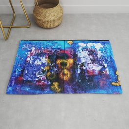 Colorful Graffiti Rug