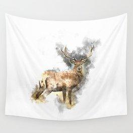 Watercolor Deer Wall Tapestry