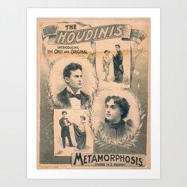 Houdini, Metamorphosis, vintage poster Art Print