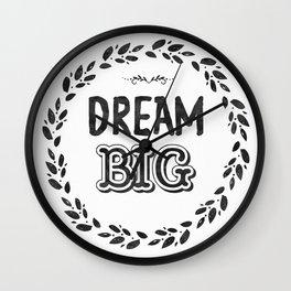 Dream Big Midnight night color Wall Clock