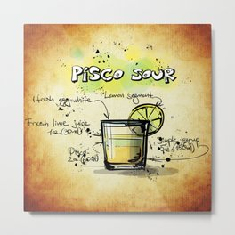 Pisco Sour Metal Print