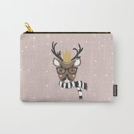 Holiday Deer Illustration Carry-All Pouch