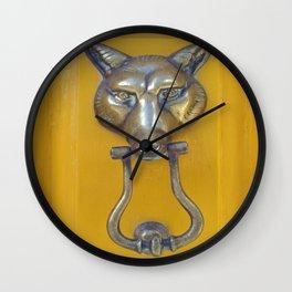 What the Fox Head Said Wall Clock