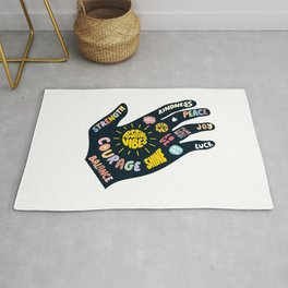 Positivity – Helping Hand Rug