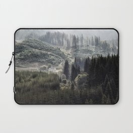 Hidden House in Majestic Forest Laptop Sleeve