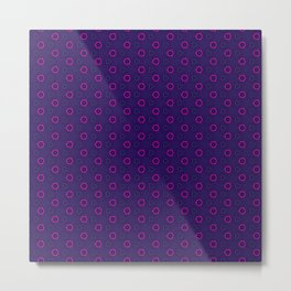 Dark Tech Frui Pattern Metal Print