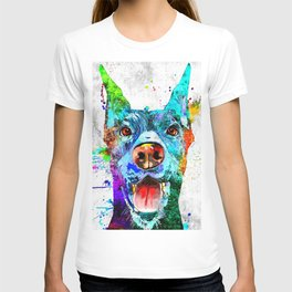 Doberman Pinscher Grunge T-shirt