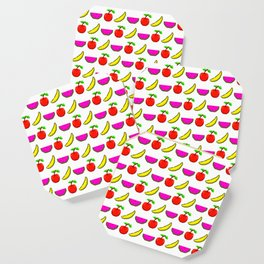 Retro Video Game Fruit Medley Pixel Art Coaster