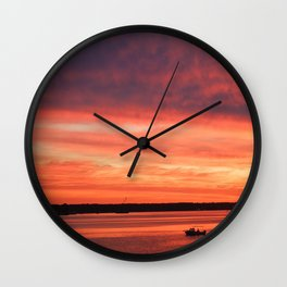 Rise and Grind Maryland Style Wall Clock