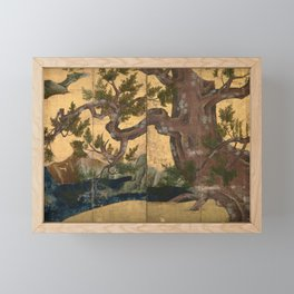 Japanese Azuchi-Momoyama-Period Eight-Panel Gold Leaf Screen - Cypress Tre Framed Mini Art Print