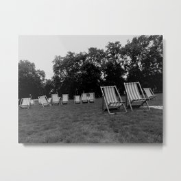 Deckchairs Metal Print