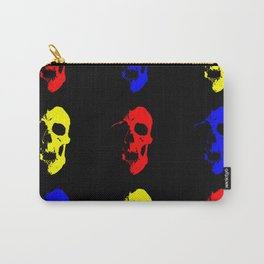 Skull 3x3 - Red/Blue/Yellow Carry-All Pouch