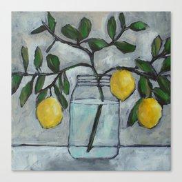 Lemon Branches Canvas Print