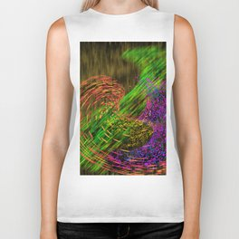Turbulence colored and gold Biker Tank