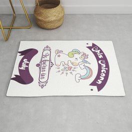This unicorn is born in july. Unicorn gift Rug