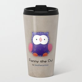 Fanny the owl by leatherprince Travel Mug