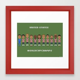 US Soccer  - #GoldCupChamps Framed Art Print