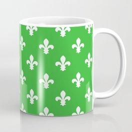 Key Lime Southern Cottage Fleur de Lys Coffee Mug