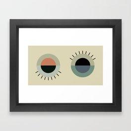 day eye night eye Framed Art Print