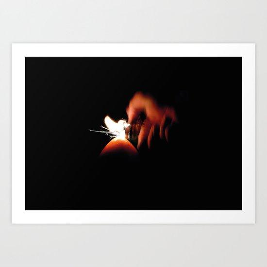 Spark Fire Art Print