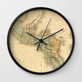Vintage Map of Guatemala (1825) Wall Clock