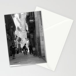 Everyone is a tourist in the streets of Barcelona Spain Stationery Cards